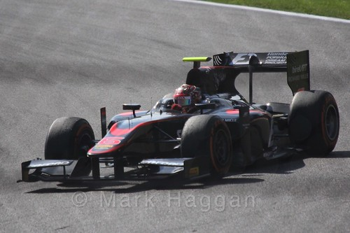 Nobuharu Matsushita in the GP2 Sprint Race at the 2015 Belgium Grand Prix