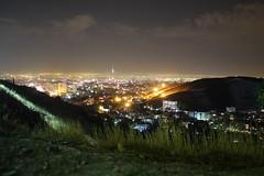 Evening view (glmrtn_) Tags: city tower grass night lights view iran persia tehran milad