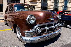 1953 Chevrolet station wagon (hz536n/George Thomas) Tags: summer copyright chevrolet canon wagon michigan august chevy canon5d flint hdr carshow stationwagon 2015 ef1740mmf4lusm cs5 backtothebricks