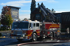 Duncan Volunteer Fire Department Tower 1 (Canada Emergency Photography) Tags: canada tower aerial firetruck vancouverisland duncan americanlafrance fireapparatus northcowichan duncanfiredepartment