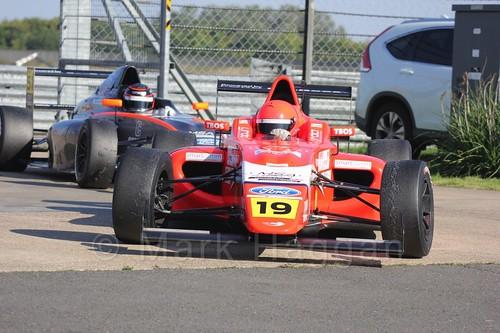Sandy Mitchell in MSA Formula at Rockingham, September 2015