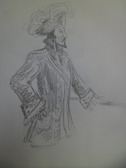 Capitaine (Sarmacande) Tags: pirate croquis capitaine