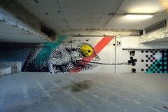 KRAYON // secret spot (.krayon) Tags: streetart graffiti mural handmade wallart pixel pixelart hungry chameleon wallpainting secretspot megapixel krayon wallporn streetarteveryday