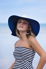 (Anna.Khatskevich) Tags: ocean blue sea summer portrait cliff woman sun white france beach beautiful beauty face hat weather rock lady seaside cool sand marine oldstyle stones maritime dieppe breeze swimsuit normandy tender sunnyday oldtime newface hears marinestyle beingbeautiful beautyofnormandy