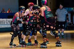 rebels_vs_panic_L3506522 1 (nocklebeast) Tags: ca usa santacruz rollerderby rollergirls zombies vampires skates organicpanic santacruzderbygirls redwoodrebels