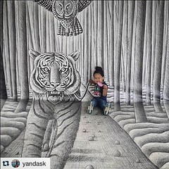 #benheinerussia (Ben Heine) Tags: baby cute art child sweet russia drawing moscow adorable exhibition 3dart bb benheineart pencilvscamera benheinerussia