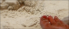 Warm Sounds  - Digits on the Beach (jim fleckenstein) Tags: red beach sunshine sand warmth