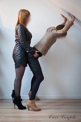 elle_et_lui24 (Cuir Couple) Tags: leather sm mistress leder femdom slave cuir matresse ballbusting soumis
