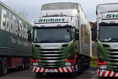 Stobart H8398 PY64 CXL Evie Christie at Penrith Truckstop 14/11/15 (CraigPatrick24) Tags: road truck cab transport lorry delivery vehicle trailer scania logistics penrith stobart eddiestobart stobartgroup walkingfloor scaniar450 penrithtruckstop stobartrenewableenergy h8398 py64cxl eviechristie