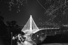 NewOaklandBayBridge_02 (DonBantumPhotography.com) Tags: skyline night ed lights landscapes nikkor 28300mm afs sanfranciscocalifornia oaklandbaybridge oaklandhills nikon 13556g vr d800 donbantumphotographycom donbantumcom