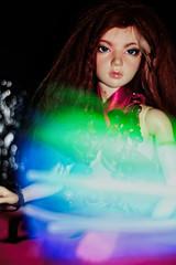 :p (UMBRA-GULABA (Instagram: umbra_gulaba)) Tags: lightpainting colors night portraits painting lights dolls indoors bjd msd jid dollphotography iplehouse