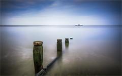 Herne Bay (Roger Nolan LRPS) Tags: longexposure sea pier kent clocktower groyne hernebay reculver kentcoast