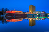 David Bowie is ... (koos.dewit) Tags: sunset holland water canon reflections thenetherlands exhibition bluehour groningen tentoonstelling groningermuseum 2015 1740mml canon6d koosdewit davidbowieis