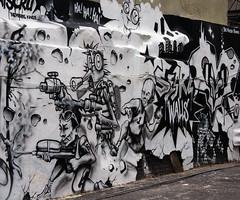 Team B (maberto) Tags: nyc blackandwhite bw newyork graffiti pentax manhattan littleitaly themuralkings bradmaberto
