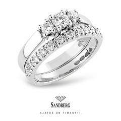 Sandberg-timanttikoruissa timantit sädehtivät kirkkaasti
