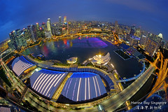 World At Your Feet (|SiLeNcE|) Tags: singapore fisheye fujifilm marinabay singaporeskyline samyang marinabaysands wishingspheres singaporecountdown marinabayskyline mbsskypark marinabaycoundown marinabaycountdown2016 marinabaybluehour
