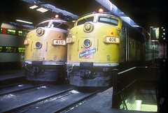 C&NW F7 410 and 406 (Chuck Zeiler) Tags: cbq f7 410 406 railroad emd locomotive train chz