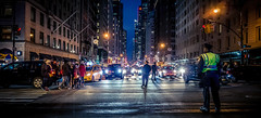 Hustle and Bustle (Gordon McCallum) Tags: nyc newyork nightstreetscene centralpark nypd sony sonya6000 sigmaartlens crossing