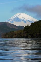 Lake Ashi (Eloise Oatley) Tags: across water ripples reflection fuji mountain mt japan hakone lake ashi ashigarashimo view snow beautiful
