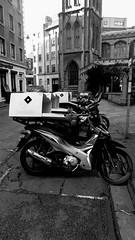 (immieHawks) Tags: bristol streetphotography church moped urban oldnew contrast bike city