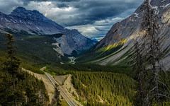 Dark Times at Icefields High (djryan78) Tags: icefields ominous dslr landscape 6d sigma cloudy nationalpark mountains cold outdoor canon canon6d 24105 clouds dark banffnationalpark summer parkway road tree travel cloud banff afternoon forest trees sigma24105 icefieldsparkway alberta mountain