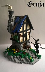 Cottage in the Wrycisk's Woods (gruja2) Tags: lego medieval woods moc bricks architecture