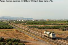 Aislada (Adrin Valencia Martnez) Tags: renfe mercancias aislada el puig 333 vossloh 3000 prima
