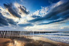 Broken Sky (Harold van den Berge) Tags: breskens canon1635lf4 clouds golfbreker golven haroldvandenberge landscape landschap leefilter lucht netherlands nieuwesluis noordzee outdoor paalhoofd palen sky strand wolken zand zeekust zeeland zeeuwsvlaanderen nederland nl