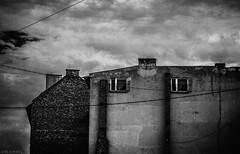 Double. (slivinska) Tags: buildings street photography blackandwhite clouds sky lines energetic windows bw monochrome alina sliwinska amarillis