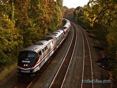 Amtrak 805/NS 067 Under Park Avenue in South Plainfield, NJ 10/30/16 (PaulRose32) Tags: trains amtrak newjersey pennsylvania lehighvalley norfolksouthern lehighline