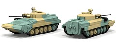 BMP-2 (ABS doohickies) Tags: lego ldd render povray bmp2 transnistria military dc6 ifv tank