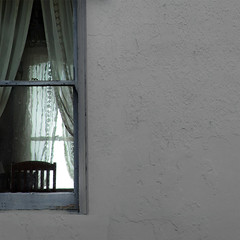 a bit closer (dotintime) Tags: yon yonder window pane glass old wavy wall chair lace curtain quiet solitude still peace dotintime meganlane