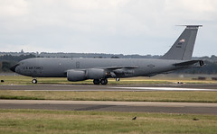 59-1486 Boeing KC-135R Stratotanker USAF 92nd ARW (Fairchild air base) (David Russell UK) Tags: 91486 1486 591486 amc aircraft aeroplane airplane plane vehicle transport tanker refuelling wing usaf united states force mobility command fairchild mildenhall suffolk england uk flying aviation military jet