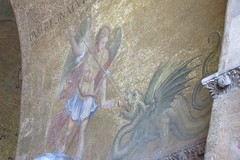Basilica San Marco mosaic (Lacey Jo) Tags: venice italy basilica san marco mosaic dragon archangel michael medieval