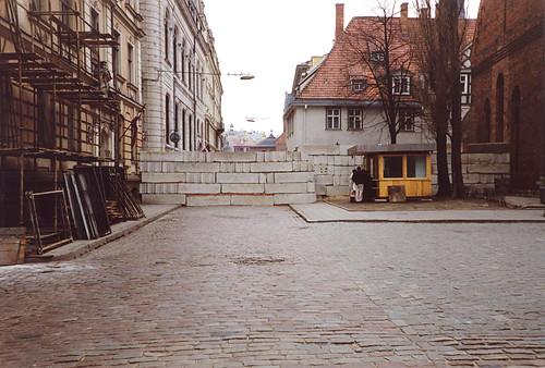 Barricades in Riga