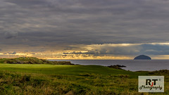 Final Hole (RabbieJT) Tags: trump turnberry ailsa craig lighthouse sunset ayrshire scotland golf course golfers uk