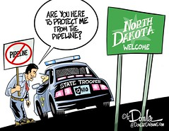 1116 dakota buckeye cartoon (DSL art and photos) Tags: editorialcartoon donlee nativeamericans oilpipeline northdakota troopers ohiostatehighwaypatrol protest environment standingrock ndap