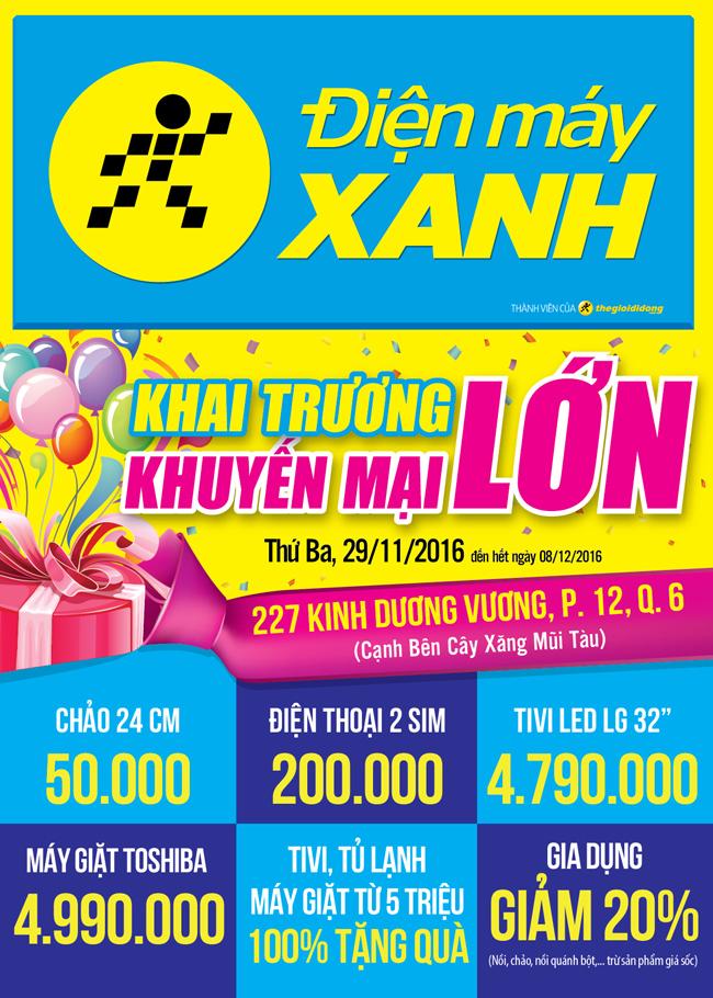Khai trương siêu thị Điện máy XANH Kinh Dương Vương, Quận 6