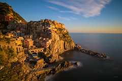 Manarola (CROMEO) Tags: manarola italy italia route cr16 cinque terre path hiking sunset place amazing beach coast costa mar mediterraneo cromeo cr photo photography view viewpoint sol mountain montaa euro europe nikon pic vistas town little puerto port long exposure haida nd unesco patrimonio humanidad best