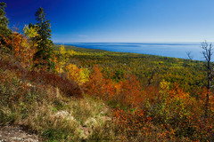 Autumn on the North Shore (Ryan Fonkert) Tags: autumn captureminnesota cookcounty experiencemn experienceminnesota exploreminnesota fall lakesuperior leveauxmountain mn minneapolisphotographer minnesota northshore obergmountain onlyinmn ryanfonkertphotography shta sawtoothmountains sony sonya6300 sonyalpha sonyimages superiorhikingtrail superiornationalforest tofte upnorth a6300 foliage forest idyllic mountains nature shoreline trees usa