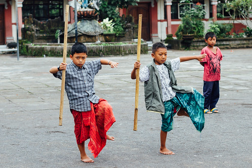 Boys Learning Traditional Balinese Dancing