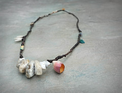 seapink necklace by greybirdstudio on etsy (greybirdstudio) Tags: greybirdstudio isle skye' scotland artisan adornment artist beach beachcomber bead ceramic clay craft pod organic nature blossom jewellery porcelain painting etsy uk textile hemp linen wax silver necklace shore shell roman glass wearable art earthy natural sculpture sculptural stitch sewn sewing stitchin sea ocean mer wave cluster urchin starfish hand handmade flower marble stone flax