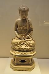 White Glazed Porcelain Seat Sakymuni Buddha (utfiero) Tags: nationalmuseumofchina beijing white glazed porcelain seat sakymuni buddha swastika