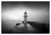 Imposing (picturedevon.co.uk) Tags: brixham breakwater lighthouse torbay englishriviera devon unitedkingdom seascape bnw mono fineartphotography storm blackandwhite waves water weather southwestcoastalpath soft focus david hixon