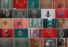 Patchwork maltais (Pi-F) Tags: porte patchwork diversité anneau heurtoir couleur bois métal bronze cuivre malte gozo ferrure serrure