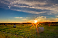 Sunset and Hay Bales (Richard Sollorz Photography) Tags: bathurst nsw australia central west country countryside hay bales sunset colour landscape outdoors richard sollorxz sollorz richardsollorz hdr
