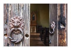 Enter The Lion's Den (red stilletto) Tags: montsalvat church altar door doorknob doorhandle lion wood timber texture famousflickrfive