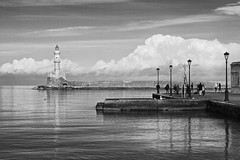 Chania_29_07122016-1112 (john houv) Tags: chania crete mediterranean oldharbour oldharbor lighthouse reflection