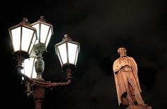 Pushkin (alexkhurt) Tags: city night outdoor sky street monument old lights