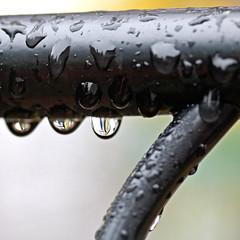 Water Drops on Railing (hbickel) Tags: railing waterdrops macro macrolens photoaday pad canont6i canon